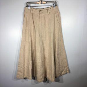 The Territory Ahead Linen Full Skirt
